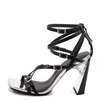 United Nude, Molten Strap High Damen Sandale, schwarz