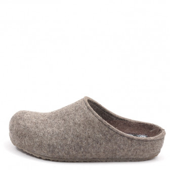 Haflinger, Grizzly Michl 711033 Unisex Hausschuh, taupe