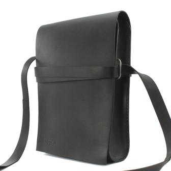 Trippen, Bag L A4 Unisex Umhängtasche, schwarz