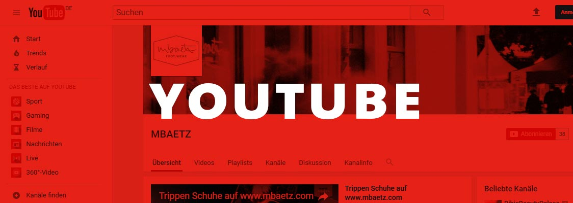 MBAETZ auf YouTube